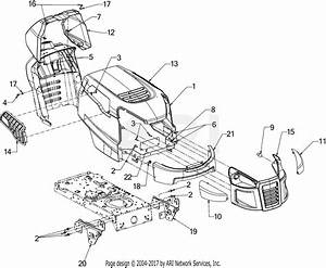Mtd 13w277ss031  Lt 4200   2016  Parts Diagram For Hood  U0026 Grille