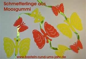 Schmetterlinge Aus Tonpapier Basteln : fensterdekoration schmetterlinge aus moosgummi basteln rund ums jahr ~ Orissabook.com Haus und Dekorationen