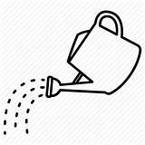 Water Sprinkling Watering Pouring Pot Icon Gardening Clipart Outlines Spring Editor Open sketch template