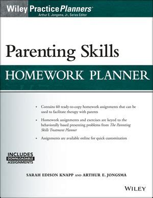 Brief Family Therapy Homework Planner by Wiley Parenting Skills Homework Planner W