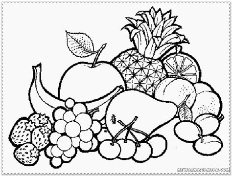coloring pages  fruit basket coloring home