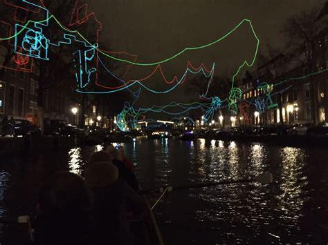 Roeien Snoek by Roeiend Langs De Kunstwerken Van Amsterdam Light Festival