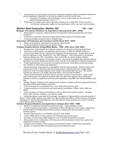 Resume Ca Java Server Framework by Resume Doc Word Format Doc