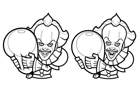 cartoon drawings  pennywise halloween adult coloring pages
