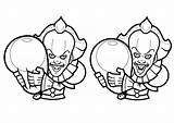 Pennywise Coloring Halloween Clown Disegni Colorare Cartoon Drawings Adult Printable Adults Coloriage Annabelle Adulti Grippe Colorier Malbuch Erwachsene Fur Colorear sketch template