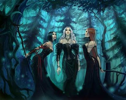 Witches Backgrounds Desktop Paintings Witch Artistic Witchy