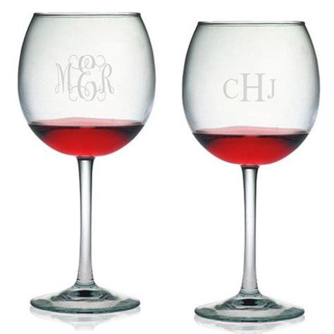 Monogram Barware susquehanna ballon wine glasses monogram set of 4