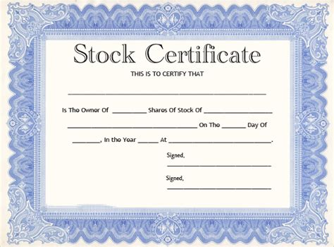 Stock Certificate Template by 21 Stock Certificate Templates Free Sle Exle