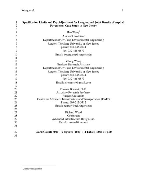 (PDF) Specification Limits and Pay Adjustment for