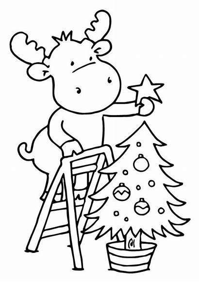 Coloring Trees Deer Decoration Weihnachtsbaum Tree Ausmalbilder