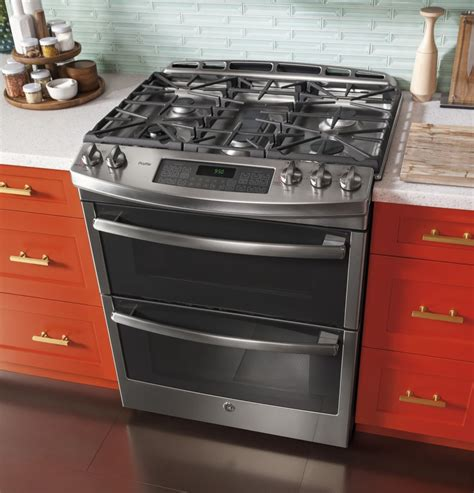 drop in electric ranges with downdraft ge pgs950sefss 30 inch slide in oven gas range with