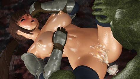 Cute 3d Skank Receives A Nasty Monster Creampie