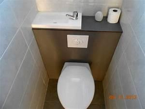 Wc Lave Main Intégré : wc avec lave main integre leroy merlin maison design ~ Dailycaller-alerts.com Idées de Décoration