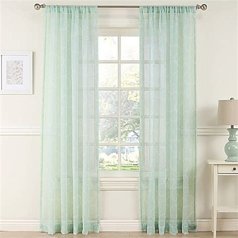 mint curtain panels daydreamer sheer window curtain panel in mint bed bath