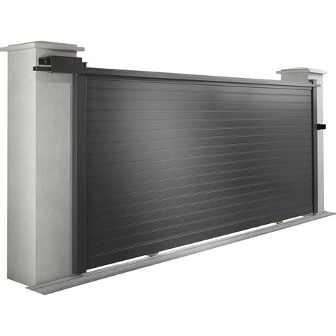 portail coulissant aluminium leroy merlin portail coulissant aluminium concarneau noir naterial l 350 x h 153 cm leroy merlin
