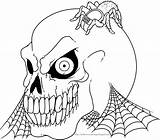 Halloween Colorings Skeleton Coloring Pages Adult Printable Colouring Skeletons Skull Print Scary Books Printables Vampire sketch template