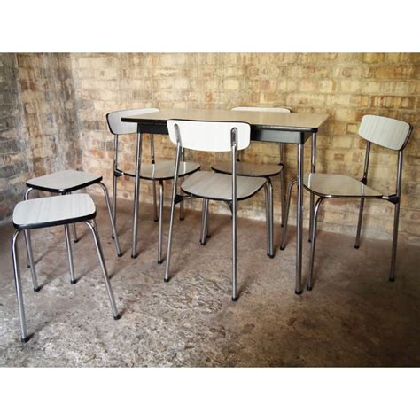 Vintage Formica Table And Chairs by Retro Chrome And Formica Table With Matching Chairs