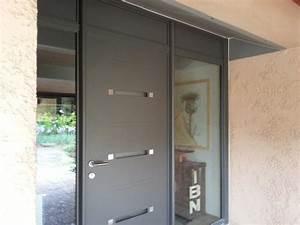 porte d entree alu leroy merlin maison design bahbecom With porte d entrée alu avec poste de radio salle de bain