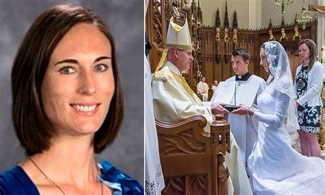 consecrated virgin marries jesus  wedding ceremony
