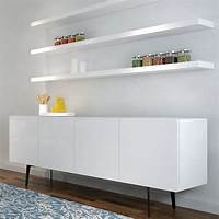 white floating shelf Tips to Decorate a Room with White Floating Shelves ...