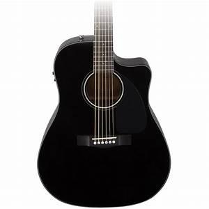 Fender CD-60CE Electro Acoustic Guitar, Black at ...