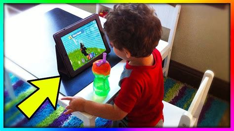 kid plays fortnite mobile    time youtube