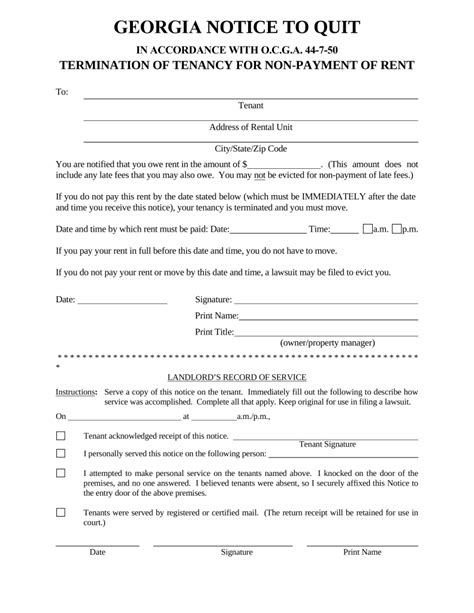 Georgia Immediate Notice To Quit  Nonpayment Of Rent. Print Posters Online. Essential Oil Label Template. Best Timesheet Invoice Template. Baseball Ticket Template. Free Restaurant Menu Templates For Word. Free Birthday Gift Certificate Template. Business Advertising Flyers. Comic Book Inventory Template