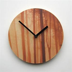 Wood for trees wall clock