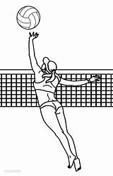 Volleyball Coloring Pages Printable Sports Player Colouring Sketch Cool2bkids Children Paintingvalley sketch template