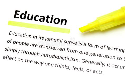 definition  education stock photo image  focus