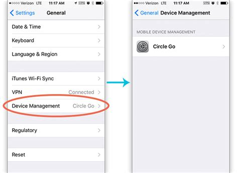 device management iphone circle media inc how do i circle go is working ios