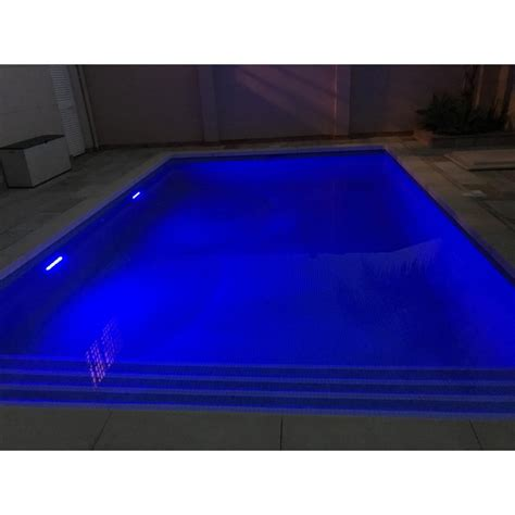 solar lighting  ground swimming pool deep blue color