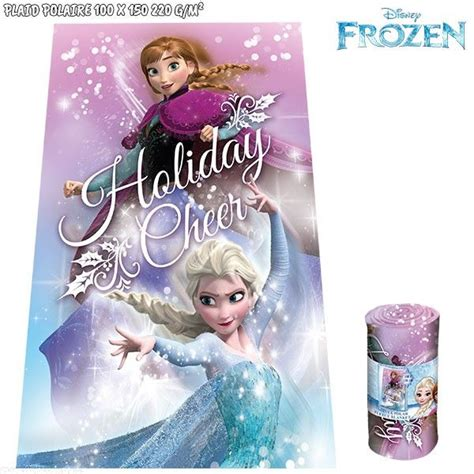 plaid polaire la reine des neiges 100 x 150 cm disney pas cher
