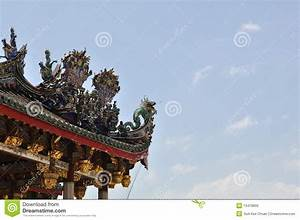 Ancient Chinese Dragon Roof Royalty Free Stock Image ...