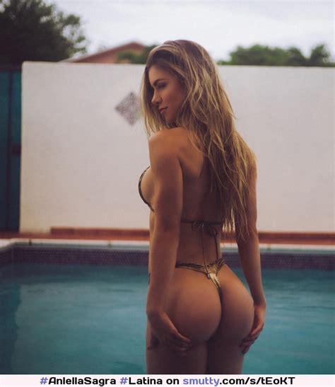 Anlellasagra Latina Nn Nonnude Bikini Microbikini Thong Pool Model Sexy Amazing Tan
