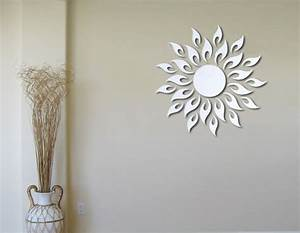 Bathroom wall decorations sunburst decor