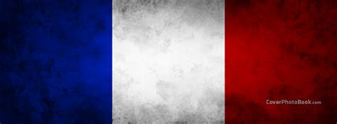 French Flag France Grunge Facebook Cover - Places