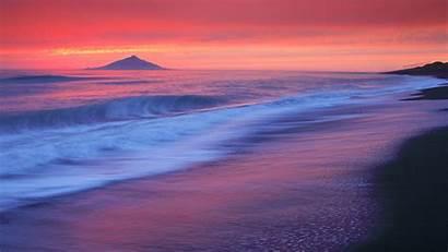 Sunrise Beach Wallpapers Sun Purple Desktop Backgrounds