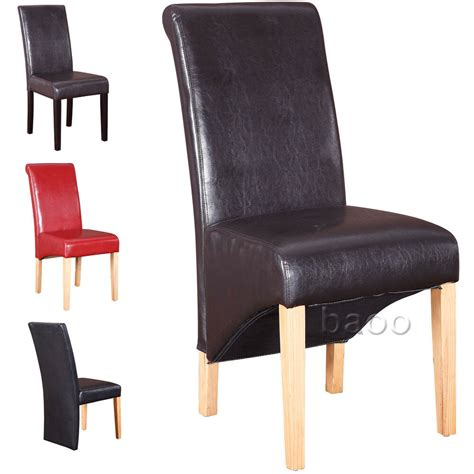 leather dining room chair dining chairs quality pu faux leather dining room chair