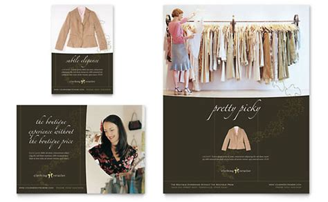 womens clothing store business card letterhead template