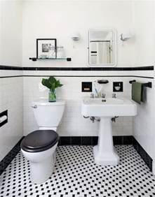 Marble Hexagon Floor Tile Uk by 31 Retro Black White Bathroom Floor Tile Ideas And Pictures