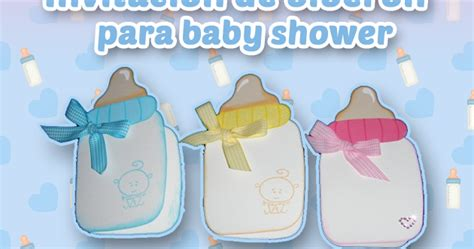 recuerdos para baby shower en cartulina invitaci 243 n de biber 243 n para baby shower recuerdos