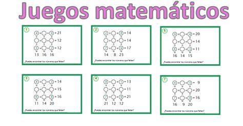 Allá vamos … juegos de matemáticas para secundaria. juegos matemáticos para primaria 3x3 sumas -Orientacion ...