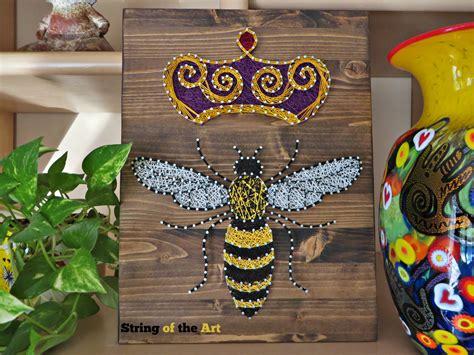 Queen B Home Decor : Queen Bee, String Art Bee, Diy Kit