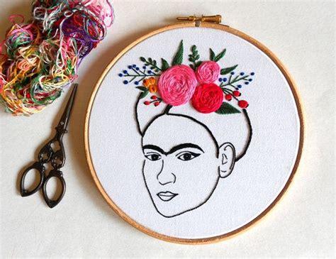 Frida Kahlo Wandkunst Moderne Stickerei Hoop Kunst Hand