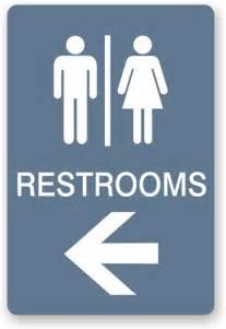 Restroom Signs with Arrow