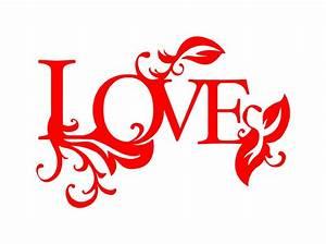 Love Word Art Decals