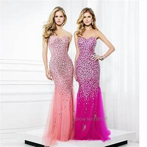 Luxuries Crystal Tulle Dress 2016 Sparkly Pink Strapless ...