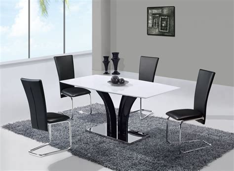 best table and chairs extendable frosted glass top leather designer table and