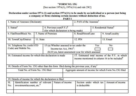 filling out an sap form how to fill in revised form 15g 15h po tools